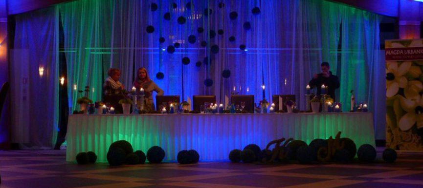 Dekoracyjne oświetlenie na weselu w Krakowie